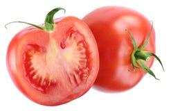 Pomodoro e una metà di uno. Fotografia Stock