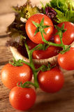 Pomodoro e verdure Fotografia Stock