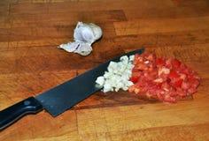 Pomodoro ed aglio Fotografia Stock