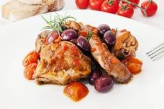Pomodoro ed olive del coniglio Fotografia Stock Libera da Diritti