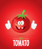 Pomodoro fresco sorridente Fotografia Stock