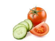 Pomodoro isolato succoso nel fondo bianco Fotografie Stock