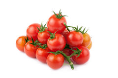 Pomodoro isolato sui precedenti bianchi fotografia stock