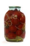 Pomodoro marinato in vetro Immagine Stock