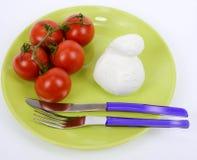 Pomodoro Mediterraneo e mozzarella di dieta fotografia stock