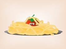 Pomodoro in pasta Illustrazione di Stock