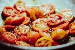Pomodoro in pentola Fotografia Stock