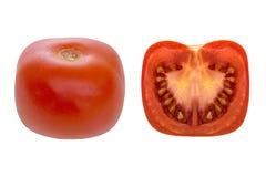 Pomodoro quadrato Agricoltura moderna, forse geneticamente modificata Fotografia Stock Libera da Diritti