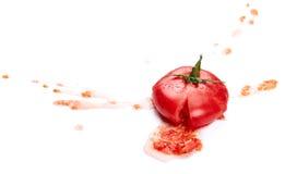 Pomodoro schiacciato Fotografia Stock