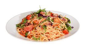 Pomodoro spagetti on plate Royalty Free Stock Image