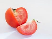 Pomodoro su priorità bassa bianca Fotografia Stock
