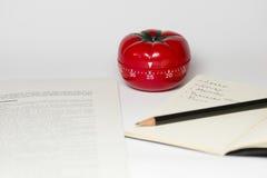Pomodoro technique. Pomodoro (tomato) technique is a study method that helps avoiding procrastination using a kitchen timer Stock Images