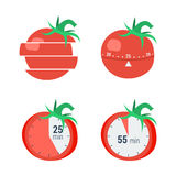 Pomodoro timer concept Stock Image