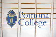 Pomona College Sign Royalty Free Stock Photography