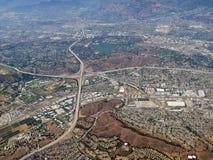 Pomona en de antenne van San Dimas Californië Stock Afbeeldingen