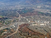 Pomona and San Dimas California aerial Stock Images
