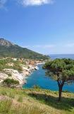 Pomonte, Elba-Insel, Italien stockfotos