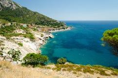 Pomonte, Isola-d'Elba (Italië) Stock Afbeeldingen