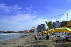 Pomorie beach sight Stock Images