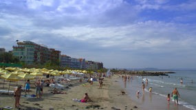Pomorie beach view Stock Image