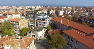 Sunny day in the old Bulgarian Pomorie stock footage