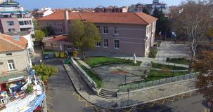 Professional school in the Bulgarian Pomorie stock video footage