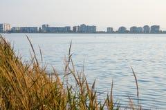 Pomorie Peloid See, Bulgarien Lizenzfreies Stockbild