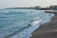 Pomorie - une ville sur la Mer Noire en Bulgarie Images stock
