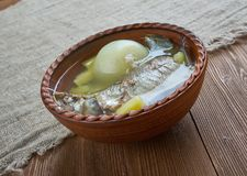 Fish soup with whitefish. close up Stock Photo