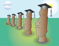 Pomp and Circumstance Easter Island style Stock Images