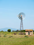 Pompa ad acqua di irrigazione del vento Immagine Stock