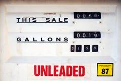 pompa benzynowa klasycznego Zdjęcie Royalty Free