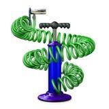 Pompa con un tubo flessibile Immagine Stock