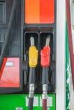 Pompa del carburante di self service nella stazione dell'olio Fotografia Stock