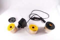Pompa del filtrante dell'acquario Fotografie Stock