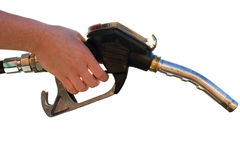 Pompa della benzina isolata Fotografia Stock