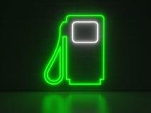 Pompa di benzina - insegne al neon di serie Fotografie Stock Libere da Diritti
