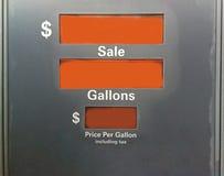 Pompa di gas Immagine Stock