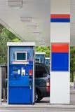 Pompa di gas della stazione di servizio Fotografia Stock