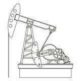 Pompa di olio Immagini Stock Libere da Diritti