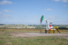 Pompa di olio Industria petrolifera equipment Fotografia Stock