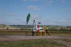 Pompa di olio Industria petrolifera equipment Immagini Stock Libere da Diritti