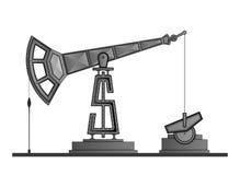 Pompa di olio isolata su fondo bianco, con il dollaro royalty illustrazione gratis