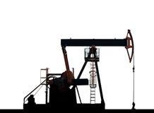 Pompa di olio isolata su una priorità bassa bianca Fotografie Stock