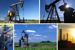 Pompa di olio Jack e raffineria Fotografia Stock Libera da Diritti