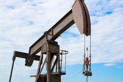 Pompa di sostegno dell'olio minerale fotografia stock libera da diritti
