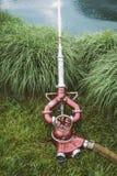 Pompa idraulica antica dell'autopompa antincendio Fotografia Stock Libera da Diritti