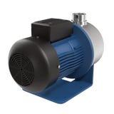 Pompa idraulica isolata su un'illustrazione bianca 3D Immagine Stock