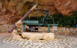 Pompa idraulica a Mijas nelle montagne sopra Costa del Sol in Spagna Immagine Stock Libera da Diritti