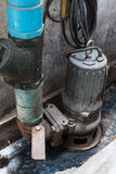 Pompa idraulica sommergibile industriale Fotografie Stock